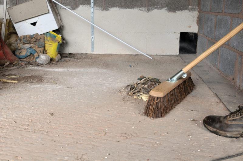 broom handle fixings