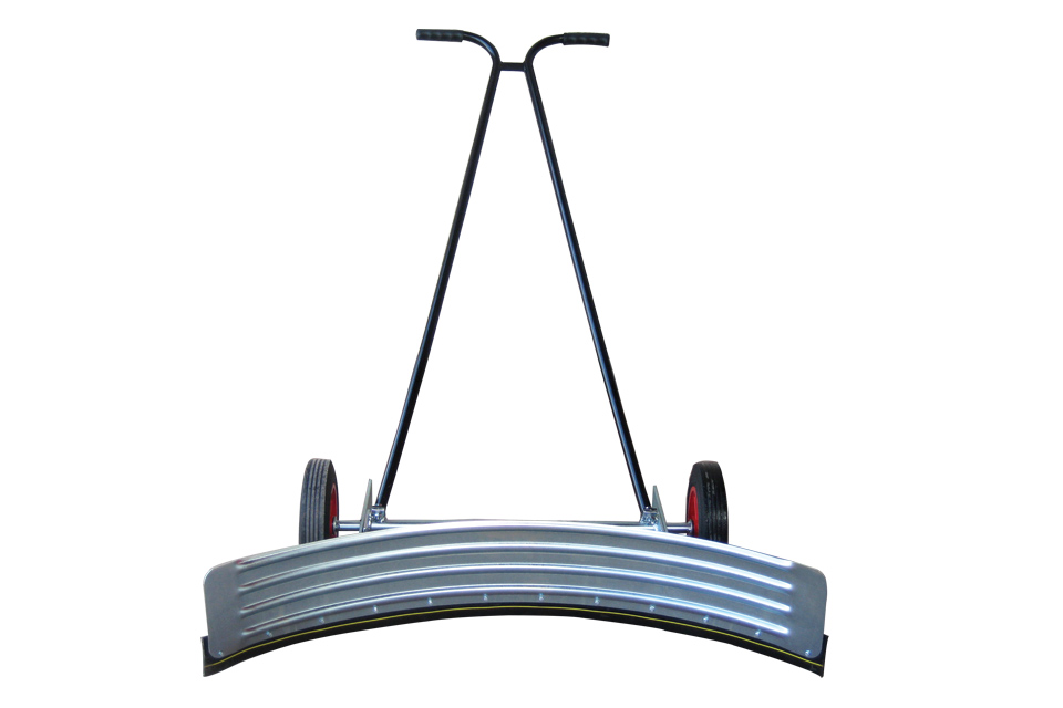 wheeled squeegee curved